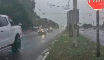 Imagen de Alerta meteorológico por lluvias y tormentas fuertes en el centro y el sur de la Provincia