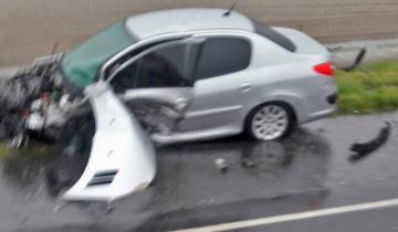Imagen de Fuerte accidente en el kilómetro 315 de la Ruta 11
