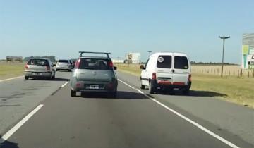 Imagen de El video que muestra locura y falta de control en las rutas hacia la Costa Atlántica