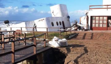 Imagen de Mar del Tuyú: la fuerte sudestada derrumbó una casa en la costanera