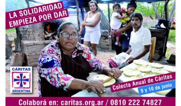 Imagen de La colecta anual de Cáritas recaudó más de 100 mil pesos