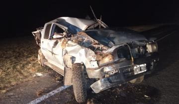 Imagen de Dos personas heridas tras un fuerte choque en la ruta 2