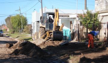 Imagen de Se construye cordón cuneta y veredas en el barrio de la Escuela N° 15