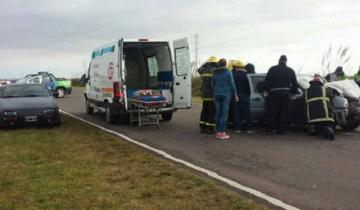Imagen de Dos heridos en un múltiple choque en la Ruta 11
