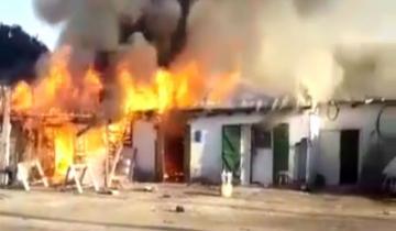 Imagen de Incendio en el corralón municipal de Maipú