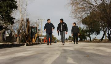 Imagen de Avanza la obra de la colectora que se realiza al costado de la Ruta 11