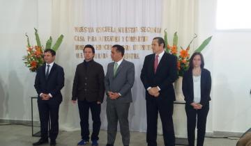 Imagen de Con presencia de funcionarios nacionales y provinciales se inauguró el edificio de la Escuela Juan Vucetich