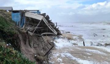 Imagen de La sudestada también causó estragos en Mar del Plata