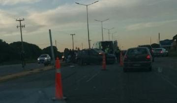 Imagen de Accidente vial en la Ruta 11: un vehículo chocó contra una columna