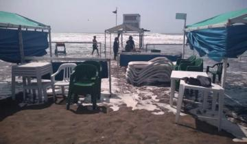 Imagen de Fuerte crecida en Mar del Plata causó problemas en los balnearios