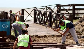 Imagen de Santa Teresita se pone a punto con el embellecimiento de la costanera