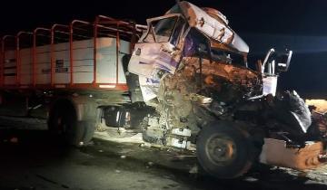 Imagen de Choque de camiones en la Ruta 56: investigan las causas del accidente