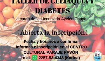 Imagen de General Lavalle: brindarán un taller de celiaquía y diabetes