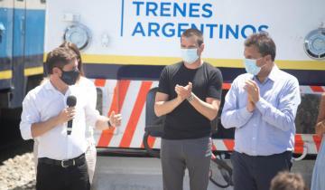 Imagen de El acto de reactivación del servicio de trenes a Pinamar tuvo una fuerte presencia de intendentes