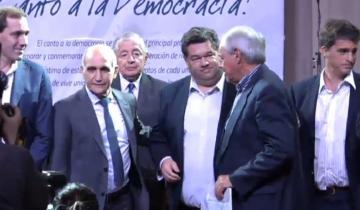 """Imagen de Reconocimiento del Senado provincial al ex intendente """"Lalo"""" Zuetta"""