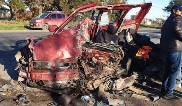 Imagen de Impresionante choque entre un micro y una camioneta: un muerto en la Ruta 36