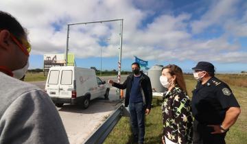 Imagen de Más cuidados por el coronavirus: se instalaron arcos de desinfección en los accesos a La Costa