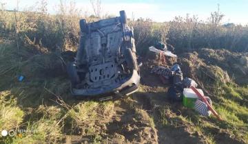 Imagen de Vuelco en la Ruta 11: tres personas resultaron heridas