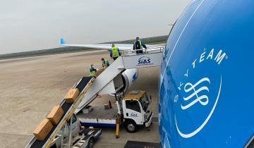 Imagen de Regresó el primer vuelo que trajo insumos médicos desde Shangai