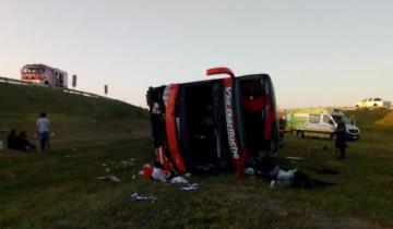 """Imagen de Vuelco en la Ruta 2: """"Se durmió, cumpa"""", el desesperado audio del chofer acompañante"""