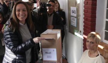 Imagen de Elecciones 2019 en vivo: Votó la gobernadora María Eugenia Vidal en Castelar
