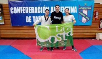 Imagen de Dos taekwondistas de La Costa entrenan con la selección argentina en el CeNARD