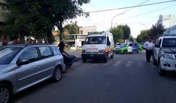 Imagen de Un auto y una moto chocaron en Dolores