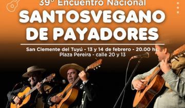 Imagen de La Costa recibe a la 39ª edición del Encuentro Nacional Santosvegano de Payadores