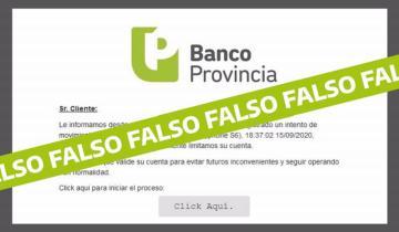 Imagen de Fraude electrónico: alertan por un falso mensaje del Banco Provincia para estafar clientes