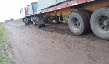 Imagen de General Madariaga: infraccionaron a un chofer por circular con un camión en un camino rural durante la jornada de lluvia