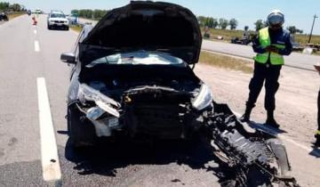 Imagen de Una mujer resultó herida tras un fuerte choque en la Ruta 11