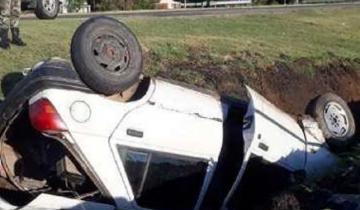 Imagen de Una vecina castellense herida tras despistarse y volcar con su auto