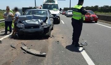 Imagen de Doce heridos tras un accidente en Ruta 2
