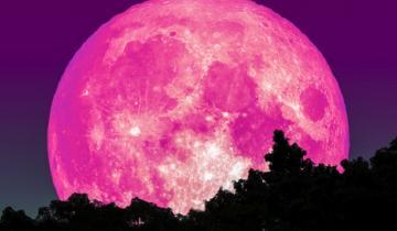Imagen de La Superluna rosa de abril, un fenómeno para ver en cuarentena