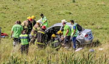 Imagen de Despiste y vuelco en la Ruta 74: un herido trasladado al hospital