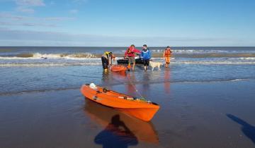 Imagen de Dramático salvataje de la Prefectura: rescataron a dos kayaks en San Bernardo