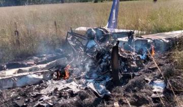 Imagen de Un avión ligero cayó en Cañuelas y murieron dos personas