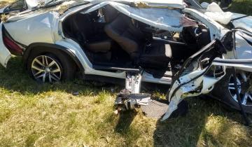 Imagen de El cantante de Tambo Tambo se accidentó en la Ruta 2
