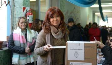 """Imagen de Cristina Kirchner: """"Con mucha esperanza voté hoy en Río Gallegos"""""""