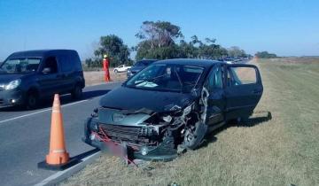 Imagen de Fuerte choque y despiste en la Ruta 11, esta vez sin heridos