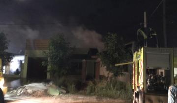 Imagen de Una casa se incendió en Dolores y los daños fueron totales