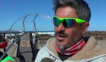 Imagen de Encontraron el cuerpo de un parapentista geselino que había caído al mar en Uruguay