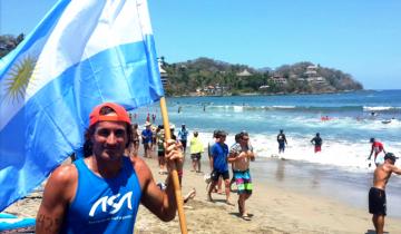 Imagen de Carlos Di Pace: el conocido surfista de Mar del Plata falleció mientras practicaba en una playa de México
