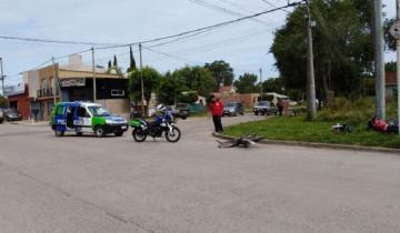 Imagen de Chocaron dos motos en Madariaga y una persona sufrió una fractura