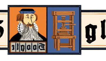 Imagen de Johannes Gutenberg: quién fue el artesano que Google homenajea hoy en su doodle
