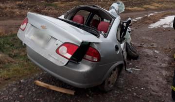 Imagen de Dos muertos y dos heridos en un choque frontal en la ruta