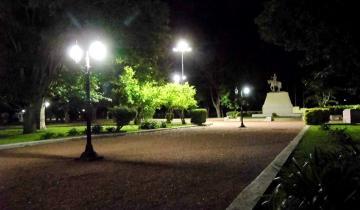 Imagen de Se repone la luminaria LED en la plaza San Martín de Tordillo