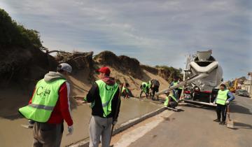Imagen de Se construyen veredas en la nueva Costanera de Mar del Tuyú
