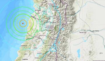 Imagen de Fuerte temblor en Mendoza por un sismo de 6.8 en el océano Pacífico