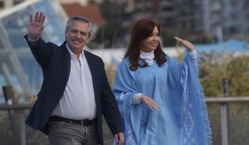"""Imagen de Alberto y Cristina en Mar del Plata: """"Nunca más al neoliberalismo"""""""